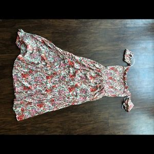 Lulu's off the shoulder floral dress